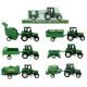 Traktor z przyczepą 6- razy mieszany - około 16cm