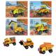 Building blocks Construction vehicles 4 - fold ass