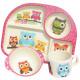 Ecoffee Cup BimBamBoo Kids Eat Set - Owls