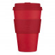 Ecoffee Cup Red Dawn, Bamboo Cup, 400 ml, with Ro