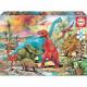 Puzzle Educa 100 mcx Dinosaures
