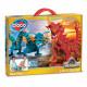 Bloco Dragons Aqua & Pyro 235 pieces 30x41cm