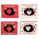 Depeche metal heart in box 4 assorted 4x5,5cm