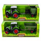 Die-Cast Tractor with trailer Pull back 2 assorted