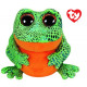 TY Plush Frog Green with Glitter eyes Speckles 1