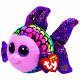 TY Plush Fish colored with Glitter eyes Flippy 15c