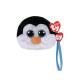 Portafoglio TY Peluche con pinguino e occhi glitte