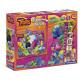 Clementoni Trolls Puzzle 2 in 1 (Fensterpuzzle 15