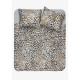 duvet cover leopard skin natural, 240x200 / 220