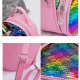Children's backpack sequins PL128KOL rainbow