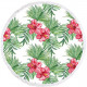 towel beach round BOHO flowers and leaves REC35