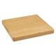 vierkante bamboe snijplank g, kleurloos