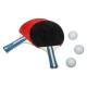 pingpong 2 rackets + 3 ballen