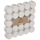 bougie chauffe-plat blanc carton x50, blanc