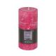 vela redonda rústica fusch 6.8x14, rosa