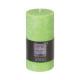 bougie ronde rustic vert 6.8x14, vert