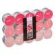 geurkaars theelicht roze x30, roze
