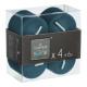 bougie votives bl canar 3.8x3.8 x4, bleu canard