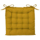 Silla ocre galette 38x38, amarilla