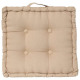 Pillow linen floor 40x40x8, beige