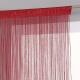 cortina de cable rojo 90x200, rojo