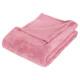 plaid in microfibra rosa c125x150, rosa chiaro