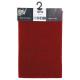 effen vloerkleed 40x60 rood, rood