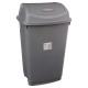 afvalbak 50l grijs, grijs