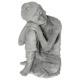 Buda sentado 25.5x25.5x36, gris