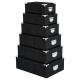 Kasten Metallecken x6 Kroko nr / gr, 2- fach sorti