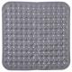 pvc duschbotten 54x54cm grå, grå