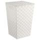laundry basket white braid, white