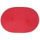 set van rode ovale vlecht, rood