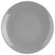 plato postre gris 21cm, gris