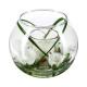 üveg váza + votives váza h10, 2-szeres asso