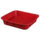 Pro vierkante siliconen mal 24cm, rood