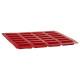 moule silicone pro 24 financiers, rouge
