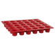 siliconen mal pro 30 canneles, rood