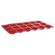 siliconen mal pro 18 madeleines, rood