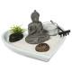 jardin zen coeur 17x16.5 x3, 3-fois assorti, multi