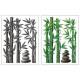 reliëfsticker 38x50 bamboe, 2- maal geassorteerd ,
