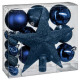 christmas ball kit 18 pieces blue n