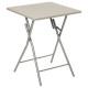 table pliante 60x60cm taupe, beige