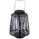 lanterne rattan noir d25xh35, noir
