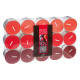 tealight scented candle fruit red x30, red