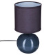 lámpara cerámica bola gris h25, gris