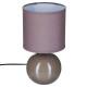 Lámpara de bola de taupe de cerámica h25, marrón t