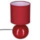 keramische lamp rode bal h25, rood