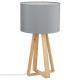 lampe bois gris molu h47.5, gris