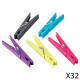 clothespins x32 mm, multicolored